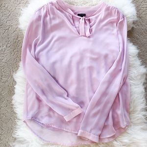ANN TAYLOR rose blouse with bow, sz. M